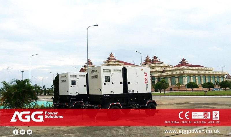 AGG Trailer Solution丨330kVA 50Hz丨Myanmar
